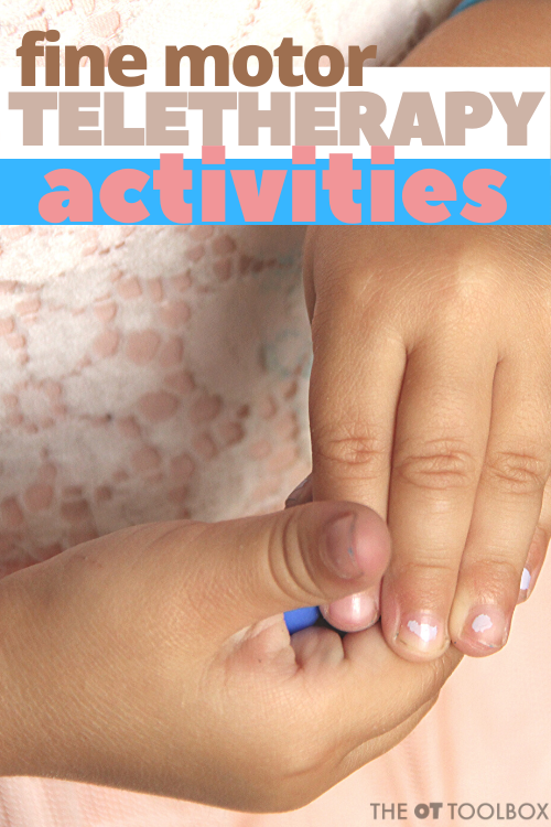 Use these fine motor activities to help students improve fine motor skills during teletherapy services.