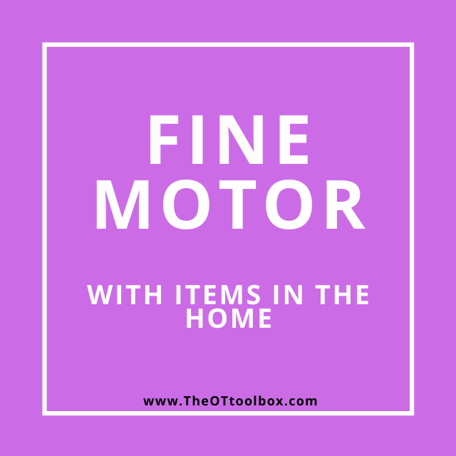These fine motor activities for telehealth and be used in OT sessions with kids.