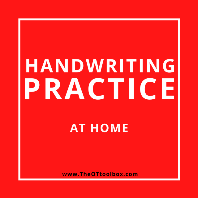 Handwriting ideas for telehealth that can be used in OT virtual sessions.