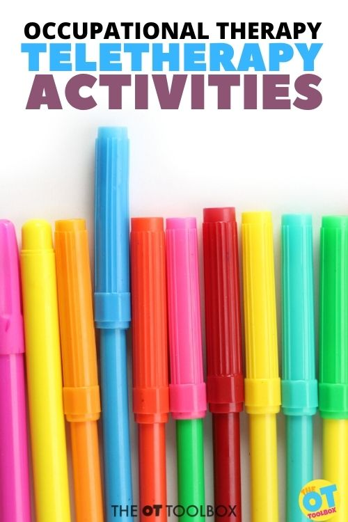 Occupational therapy teletherapy activities