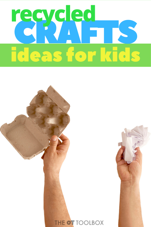 Recycled crafts and craft ideas for kids using recycled items like bottle caps, newspapers, toilet paper tubes, and other craft ideas.
