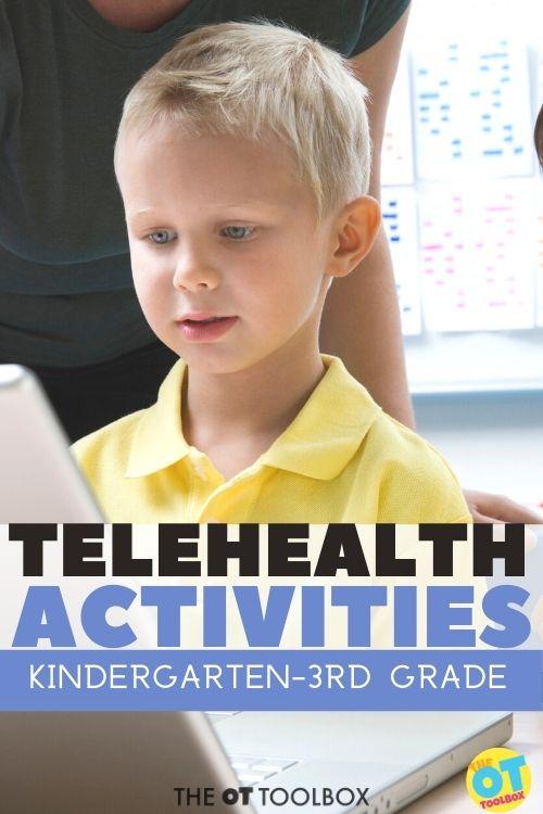 teletherapy activities for kindergarten through 3rd grade