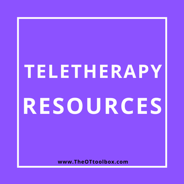 Teletherapy resources for occupational therapists and other telemedicine practice.