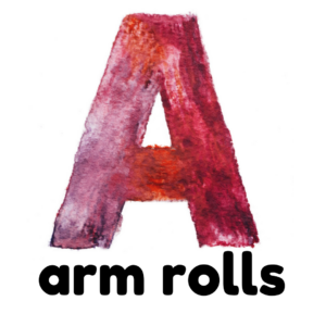 A is for arm rolls gross motor activity part of an abc exercise for kids