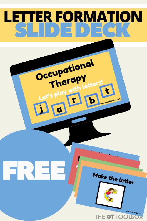 handwriting in teletherapy with an interactice slide deck