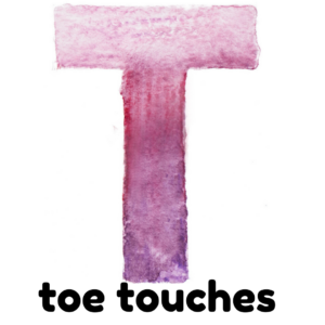 T is for toe touches gross motor activity part of an abc exercise for kids