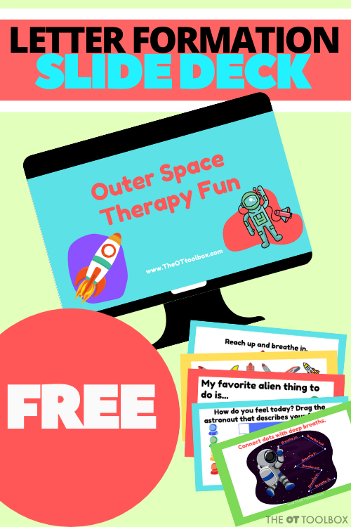 space activities for kids to use in occupational therapy activities.