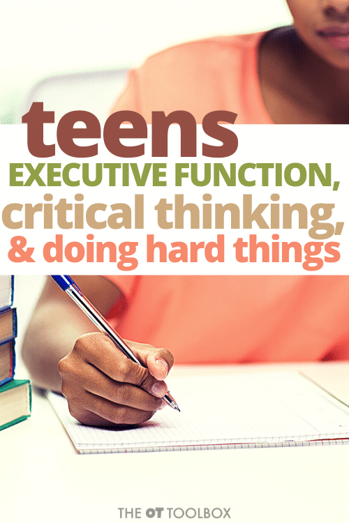 Critical thinking activities for kids and teenagers to help with executive functioning needed for multi-step tasks like completing a book report.