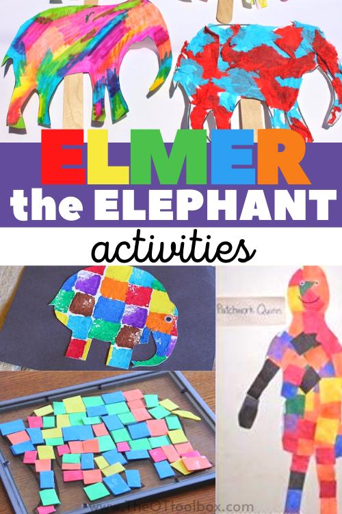 Elmer the elephant activities for kids based on the children's book, Elmer the Elephant