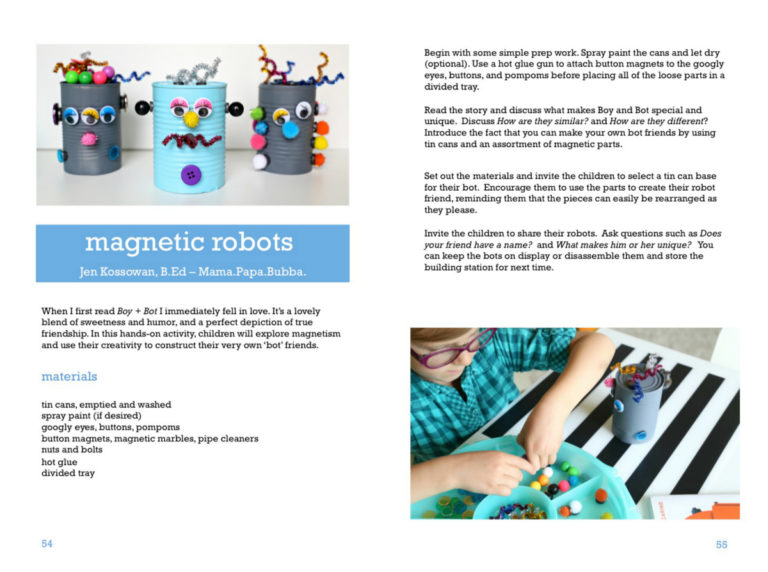 Creative book activities that help kids develop fine motor skills and gross motor skills, while exploring books.