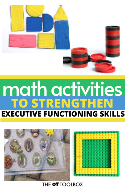 Kindergarten lesson plans can include these math activities to develop executive functioning skills to prepare for kindergarten