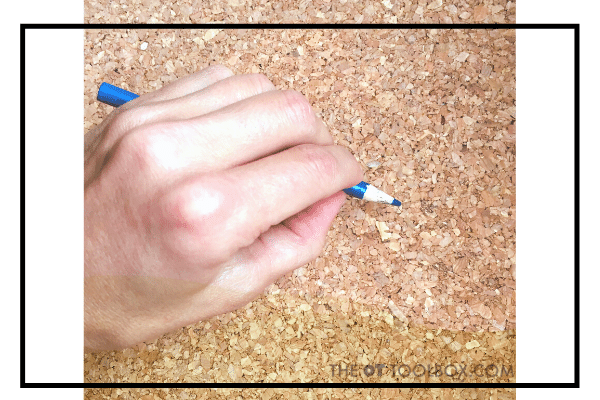 Digital pronate pencil grasp