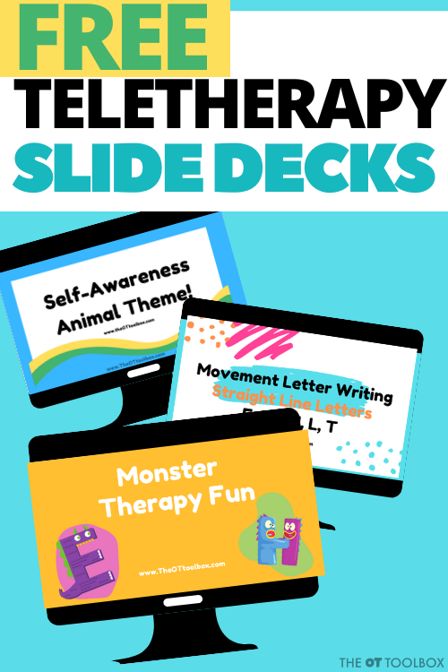 free teletherapy slides for pediatric occupational therapy online therapy sessions