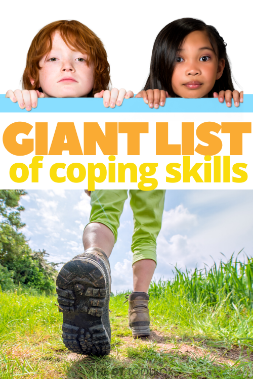 Use this list of coping skills to help kids build a coping skills toolbox.