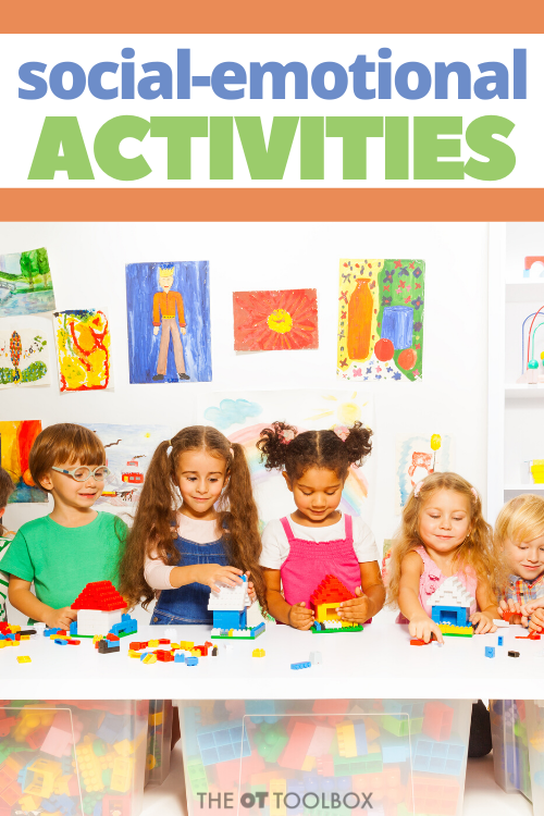 Occupational therapists and parents can use these social emotional learning activities to help children develop positive relationships, behaving ethically, and handling challenging situations effectively.