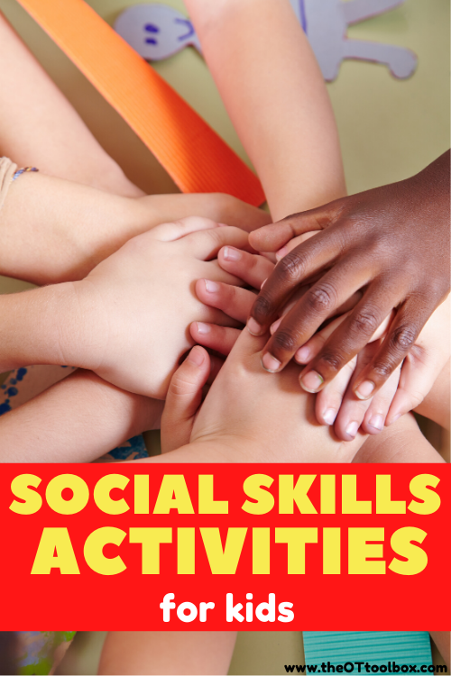 Social skills activities for kids to use to build social emotional skills and learn kindness, empathy, awareness of others, and other social skill interventions needed to function.