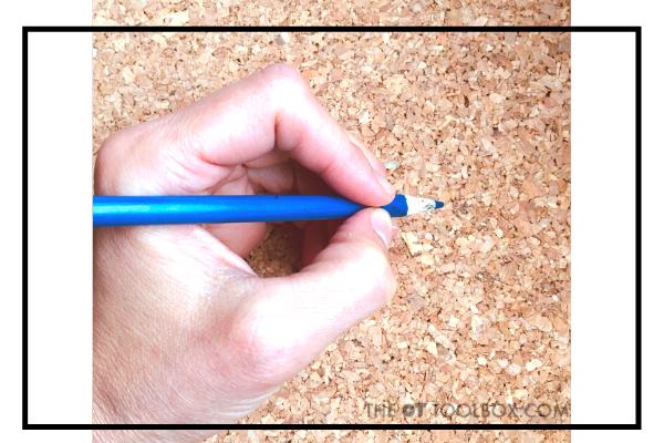 Static tripod pencil grasp is a mature pencil grasp pattern