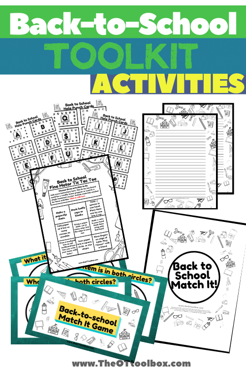 Back to school activities for occupational therapy or the classroom