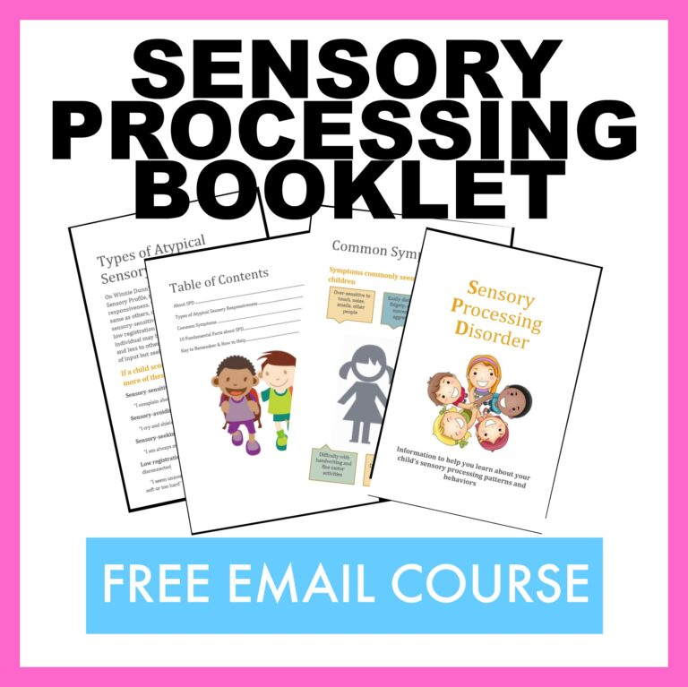free sensory processing booklet