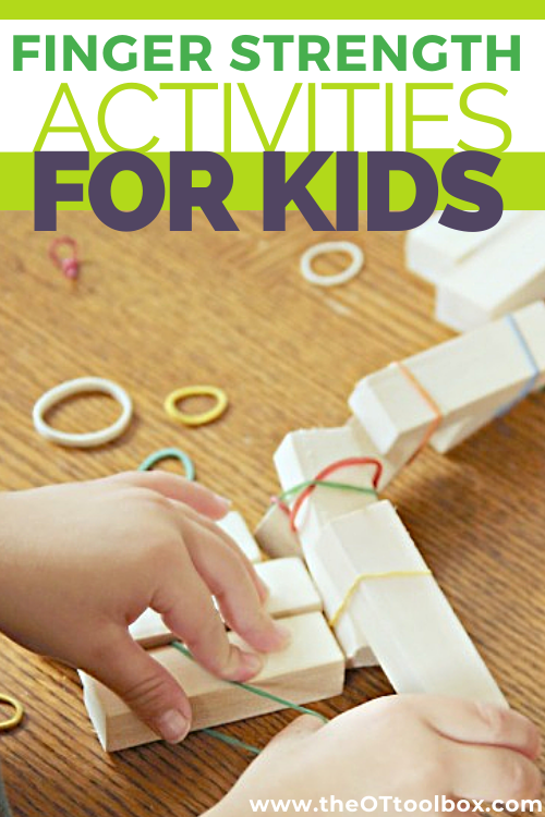Finger strength activities and finger strength exercises using everyday toys and tools, perfect for kids.
