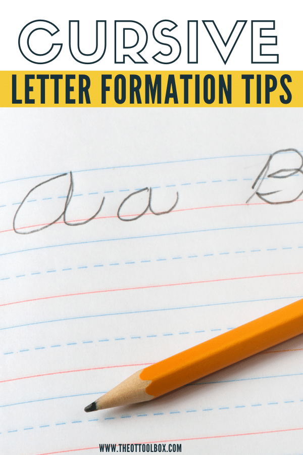 These are cursive letter formation activities for handwriting.