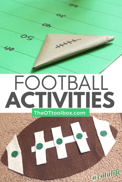Football activities for OT interventions