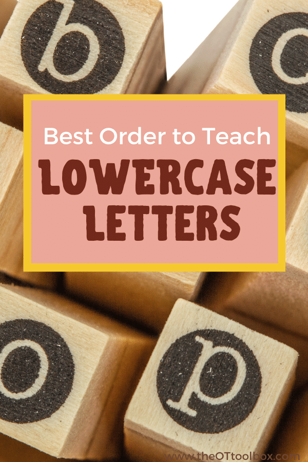 This is the order to teach lowercase letters in handwriting.