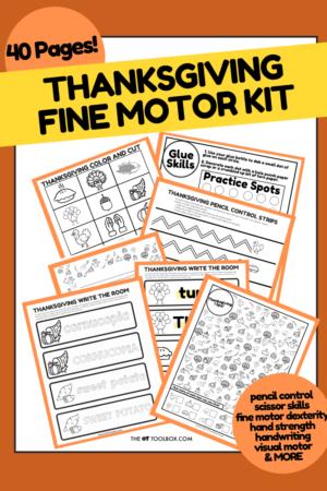 Thanksgiving Fine Motor Kit