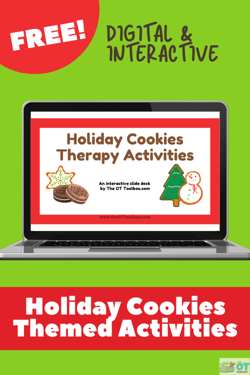 Cookie activities for occupational therapy with a virtual therapy slide deck.
