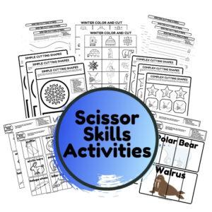 winter scissor skills activities