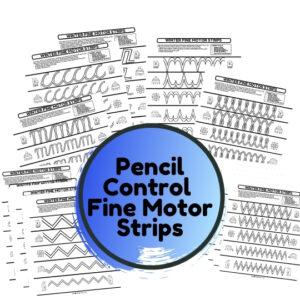 winter fine motor pencil control activties