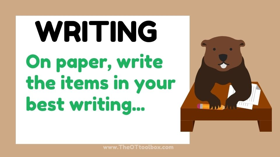 groundhogs day writing prompt