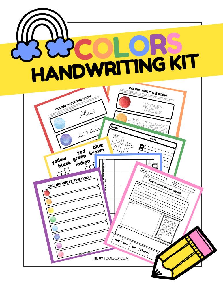 Colors Handwriting Kit