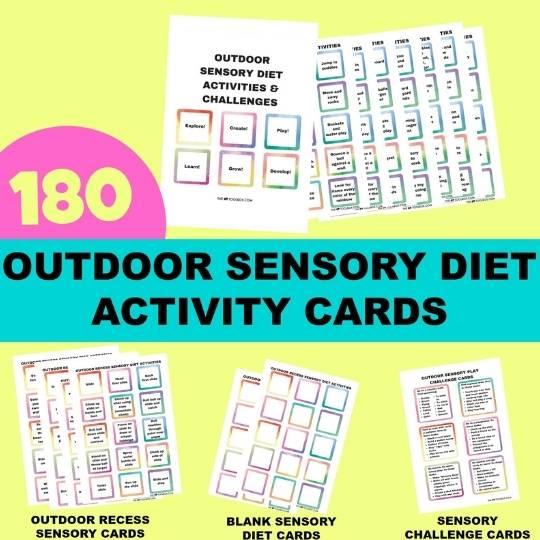 outdoor sensory diet cards