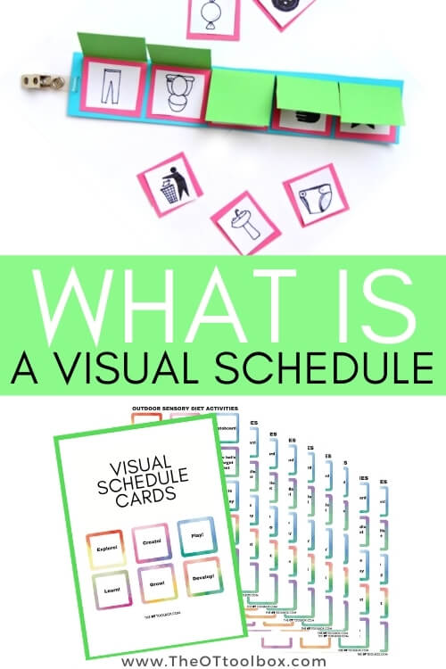 What is a visual schedule