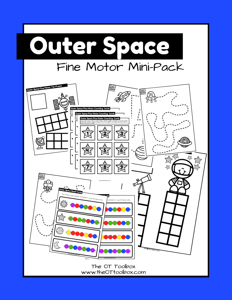 Outer Space Fine Motor Kit
