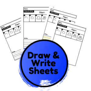 outer space directed drawing worksheets