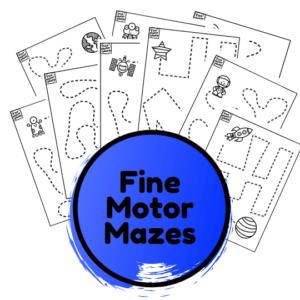 outer space fine motor mazes