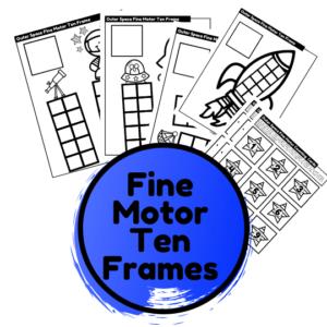 outer space fine motor ten frames activity