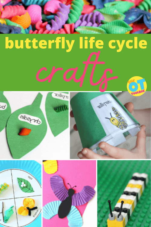 Butterfly life cycle crafts and activities for therapy sessions