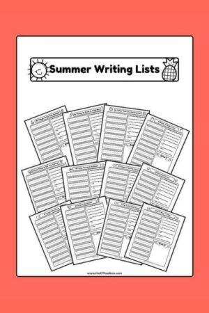Summer handwriting lists