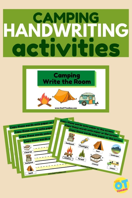 Use this camping writing slide deck to work on handwriting skills this summer, with a camping theme.