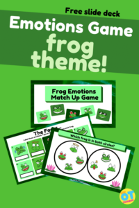 emotions game frog theme spot it activity