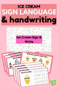 ice cream writing activities