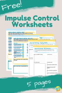 impulse control worksheets