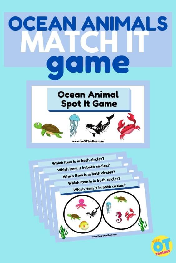 ocean animals matching game