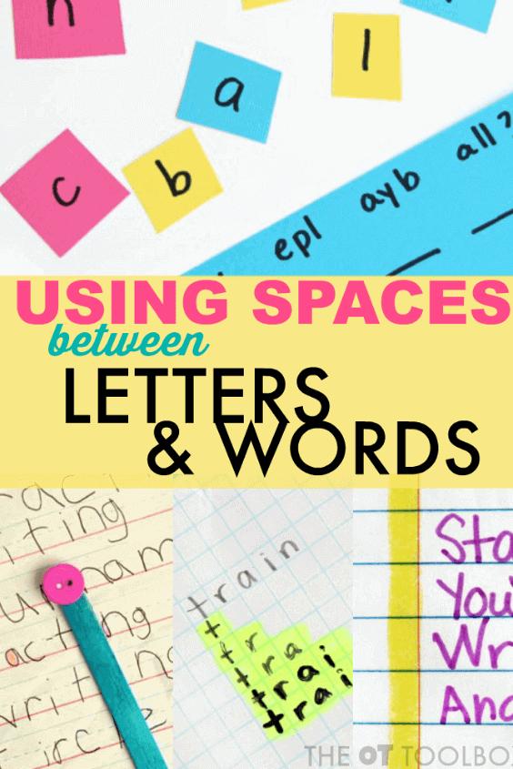 Spacing awareness in handwriting