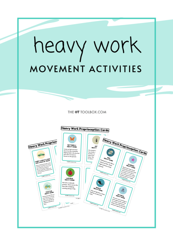 Heavy Work Exercise Cards
