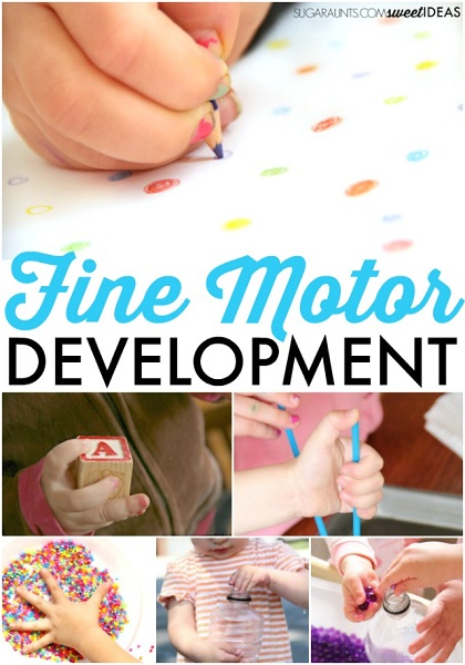 Fine Motor development and child development information for occupational therapists.