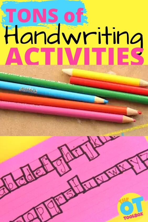 Handwriting activities that make handwriting practice fun.